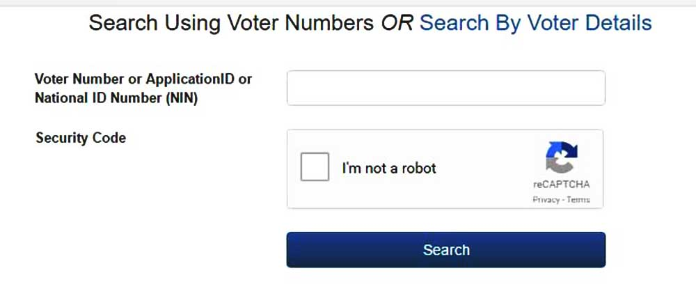 Search Voter Details