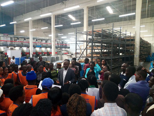 Voter education outreach for workers of Graphic systems factory, Luzira
