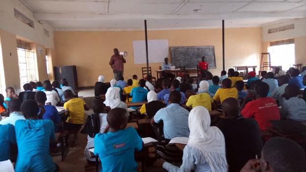 Outreach at Iganga progressive Senior Secondary School